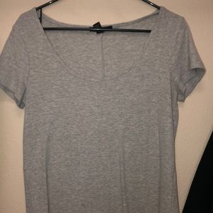 ribbed scoop neck shirt